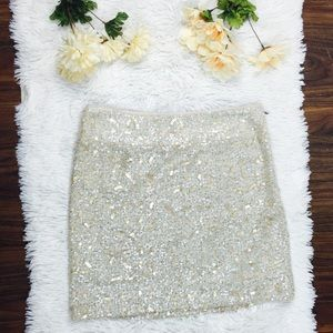 Banana Republic Sequin Knit Mini Skirt